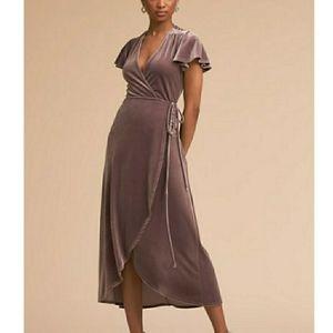 BHLDN Velvet Wrap Thrive Midi Dress